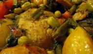 מתכון לתבשיל עוף בנוסח טביחה עם אורז צבעוני, פראומלא