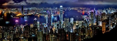 לילה בהונג קונג.